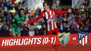 Resumen de Málaga CF vs Atlético de Madrid (0-1)