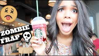 TASTING THE STARBUCKS ZOMBIE FRAPPUCCINO!!!