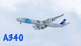 FSX Egyptair Airbus A340 Landing @ Madrid Barajas RWY 32R ( HD )