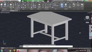 AutoCAD 3D, AutoCAD Training Table 3D, How to Create Table
