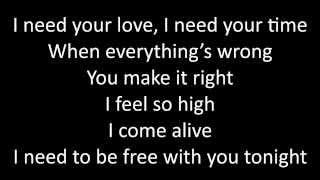 Timeflies - I Need Your Love Lyrics