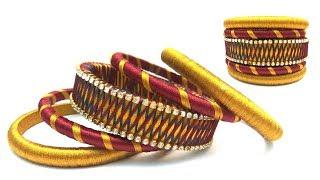 Bangle making at home | Easy and Simple bangles | Making silk thread bangles | silk thread Bangle