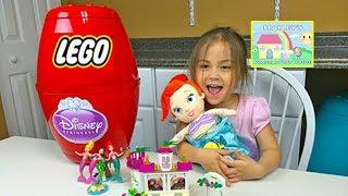 BIG DISNEY PRINCESS ARIEL SURPRISE EGGS Opening Little Mermaid Disney Baby Color Change Funny ディズニー