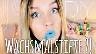 ... WACHSMALSTIFTE als Lippenstift ?? -  DIY ♡   Dagi Bee
