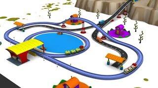 Train cartoon videos - Toy Train for Children - Choo Choo Train - Toy Factory Cartoon - Toys