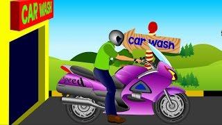 Bike Car Wash | Toy Bike For Kids | Videos For Children