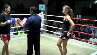 Chasity (Tiger Muay thai) KO's Sunaree @ Patong Boxing Stadium