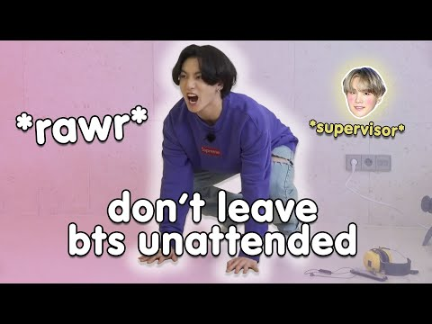 C H A O S ensues when BTS are left unattended aka RUN BTS without yoongi