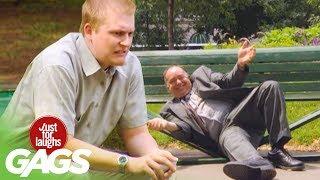 Fat Man Breaks Park Bench!
