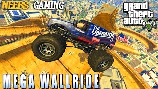 GTA 5 MODS - MEGA WALLRIDE - FUNNY MOMENTS (Grand Theft Auto Gameplay Video)