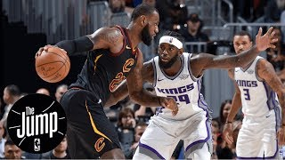 LeBron James calls final play; step-back unguardable?   The Jump   ESPN