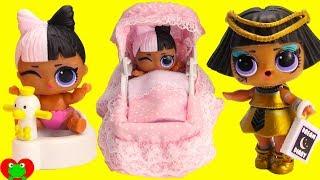LOL Surprise Confetti Pop Big Sister Potty Trains Babysits Lil Sister Toy Video