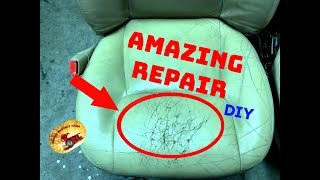 How to Fix HORRIBLY Damaged Leather or Vinyl Seating!    Video #2