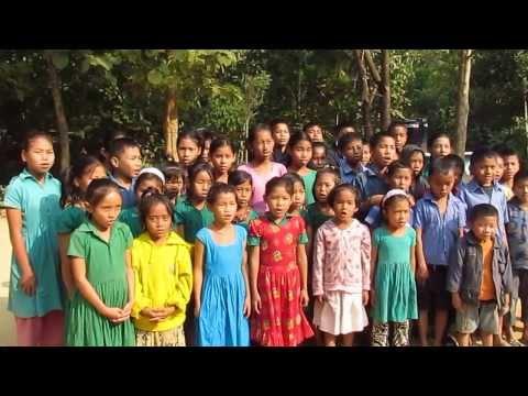 Chakma Kids Singing Bangladeshi National Anthem