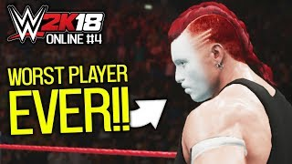 facing the *WORST* online player in WWE 2K18! 💩   WWE 2K18 Online #4
