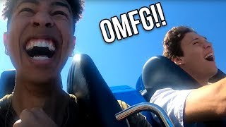 Kris London & JesserTheLazer vs. ROLLERCOASTERS! *HE PASSED OUT!*