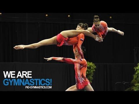 2012 Acrobatic Worlds LAKE BUENA VISTA USA Women s Group Final We are Gymnastics