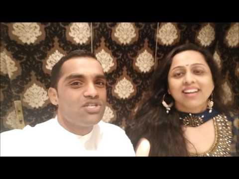 Singer Vaishali Samant with Anchor Abner Dias