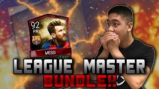 FIFA Mobile WE GOT MESSI!!!! TWO INSANE LEAGUE MASTER BUNDLE OPENING!!
