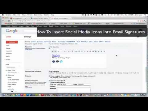 How To Add Social Media Icons To Your Email Signature