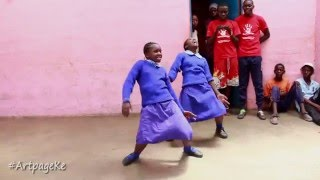 School girls dance to Majic Mike's Ayaya