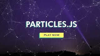 How To Make Website | Moving Particles With HTML CSS Particles JS
