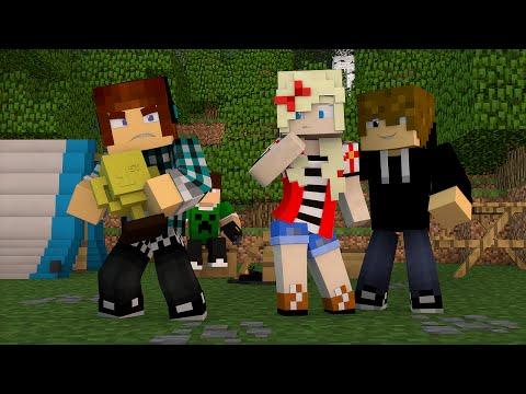 Minecraft Namorada Perfeita 06 ACAMPAMENTO DA ESCOLA