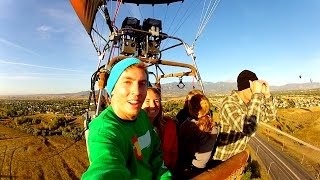 FLYING In A Hot Air Balloon!!