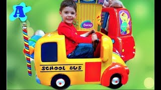 Ride on School Bus with Barney Kids Song