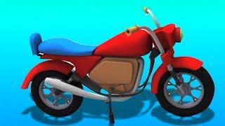 Pembentukan basikal | Kartun untuk kanak-kanak | Penyusunan | Toy Vehicles | Toy Box Unboxing | Bike