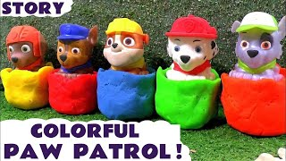 Learn Colors with Paw Patrol Wrong Heads Play-doh surprise toys and Thomas & Friends Toy Trains TT4U