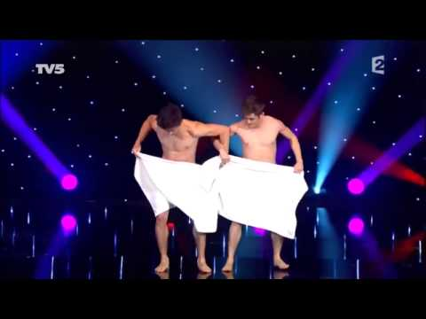 Two Guys Perform A Towel Dance
