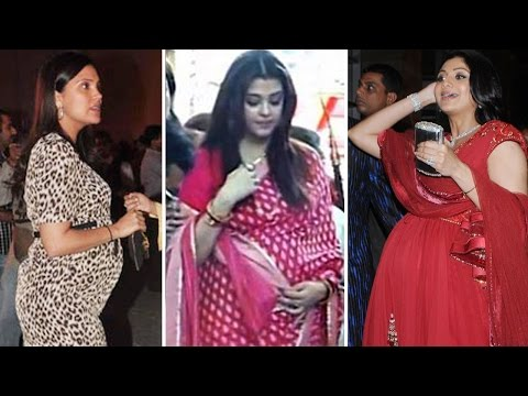 Bollywood Actresses flaunt BABY BUMPS | Aishwarya Rai, Shilpa Shetty,  Lara Dutta & MORE!