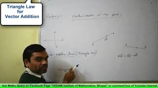 Vectors - Concept of Vector, Position Vector, Vector Addition Law & Section Formula in Hindi(Part 1)