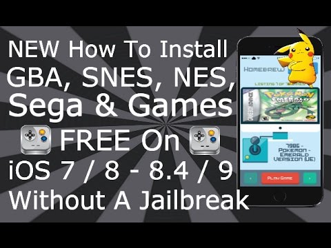 Install GBA SNES NES SEGA & Games FREE On iOS 9 / 10 NO JAILBREAK iPhone, iPad, iPod Touch