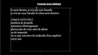 Français avec Rabbani TP n° 5 Assedic/Pôle emploie