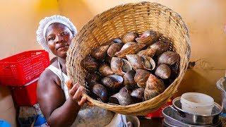 The Ultimate GHANA STREET FOOD TOUR - Jamestown WEST AFRICAN FOOD in Accra, Ghana!