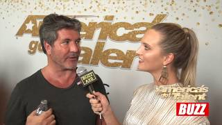 Howie, Mel and Simon Talk About First Live Show and Courtney   AGT BACKSTAGE