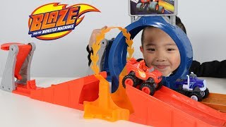 MONSTER DOME Playset Blaze And The Monster Machines Toy Unboxing With Ckn Toys