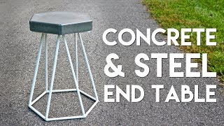 DIY Concrete and Steel End Table | How To Build - Welding