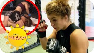 MMA-Frauen: Mixed Martial Arts Kämpferin Paulina trainiert 5x/Woche | SAT.1 Frühstücksfernsehen | TV