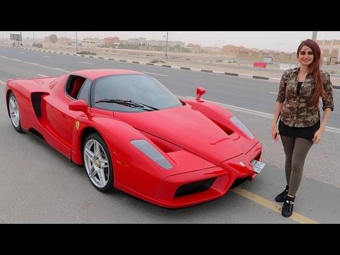 GIRL DRIVING FERRARI ENZO !!!
