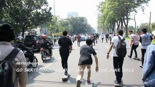 GO SKATE DAY  2012 JAKARTA - WE BOMB THE STREETS !!!
