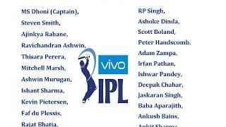 IPL 10 2017 All Teams & Player List (Indian Premier League)