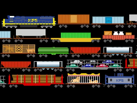 Freight Train Cars Trains Railway Vehicles The Kids Picture Show Fun & Educational