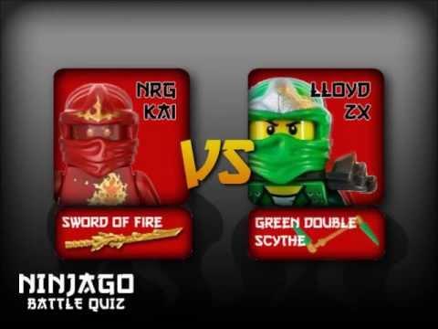Lego Ninjago battle NRG Kai Vs Loyd ZX The Green Ninja