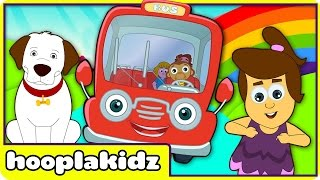 Wheels On The Bus Go Round And Round | Popular Nursery Rhymes by Hooplakidz
