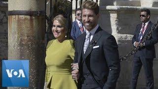 David Beckham, Victoria Beckham and Modric Shine at Sergio Ramos Wedding