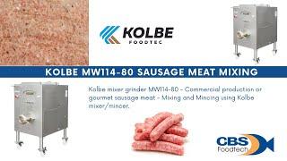Kolbe Sausage Meat Mixing