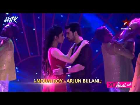 Arjun Bijlali and Mouni Roy